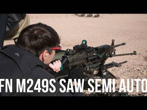 SHOT Show 2016: Semi-Auto FN SAW M249S at the Range (With