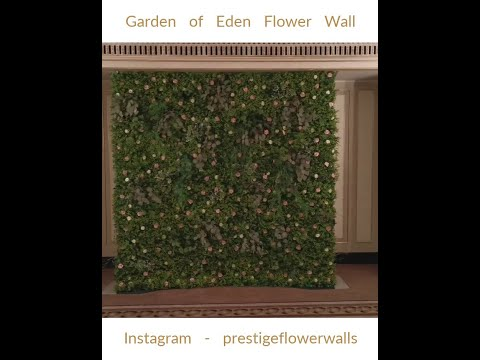 Garden of Eden Flower Wall