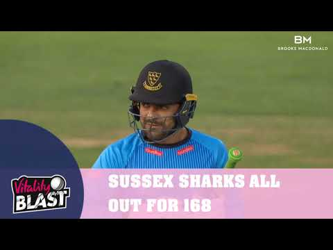 MIDDLESEX V SUSSEX SHARKS - VITALITY BLAST MATCH ACTION (2AUG2018)