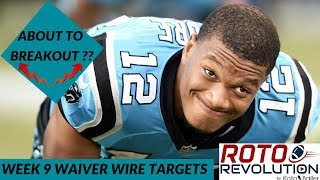 2018 Fantasy Football - Week 9 Waiver Wire Players To Target