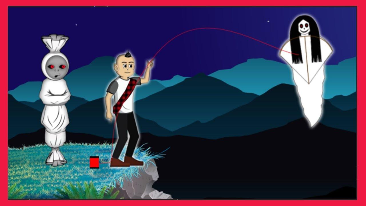 Pocong Mau Layangan Kuntilanak | Kartun Hantu Pocong Lucu