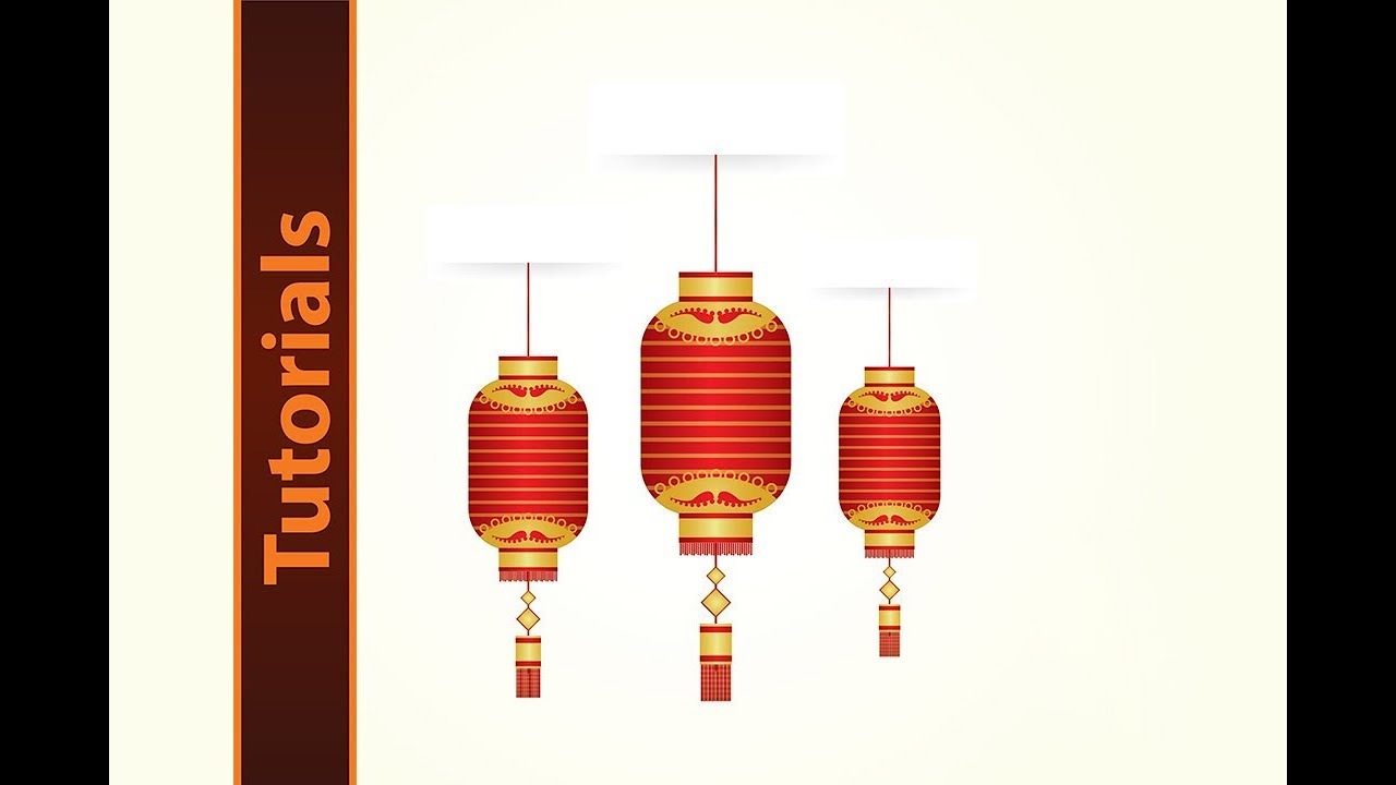 how to design a chinese lantern chinese new year art element
