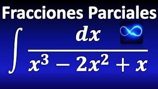 269. Integral mediante fracciones parciales, con factor lineal repetido