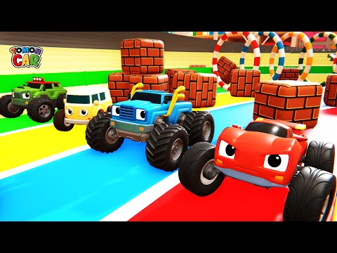 Run! TOMONCAR Toy Car Race | Car Story | Obstacle Game Play | Tomoncar World 토몬카