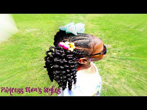Crochet Pigtails Hairstyle & Giveaway Childrens Natural Hair Care