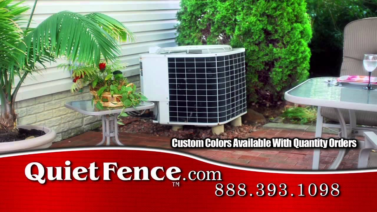 How To Make Noisy Air Conditioner Really Quiet With Fence Noise Screen You