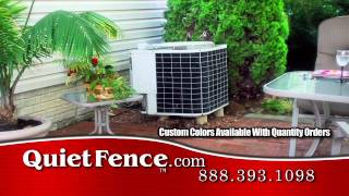 How To Make Noisy Air Conditioner Really Quiet With Quiet Fence™ Noise Screen
