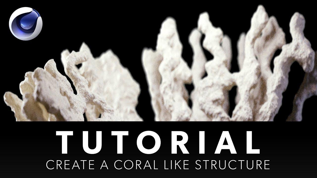 Growing Coral in C4D R20 - Cinema 4D Tutorial