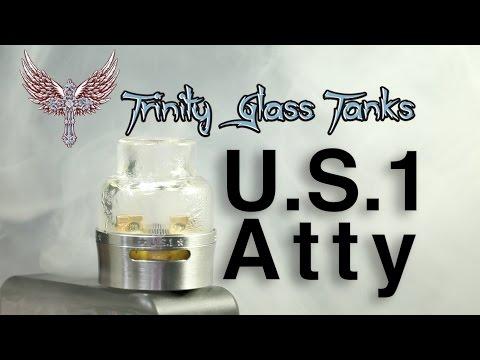 อะตอม บุหรี่ไฟฟ้า หยดสูบ U.S.1 Atty by Trinity Glass Tanks แท้