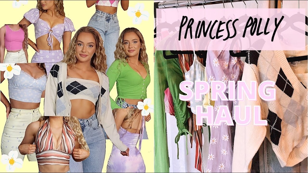 HUGE SPRING & SUMMER PRINCESS POLLY TRY ON CLOTHING HAUL | 2021 TRENDY PIECES + DISCOUNT CODE