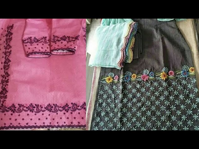 Ghera designs of punjabi suits || suits's ghera detailing || ghera embroidery || Kaur Trends