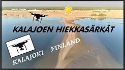 Kalajoki hiekkasärkät, Kalajoki Finland - drone 4K