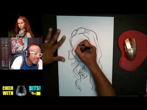 How To Draw Caricature Sansa Stark Sophie Turner Game of Thrones