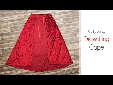 How to: Sew a Cloak with 1 Metre of Fabric ! | Red Velvet Cape ...