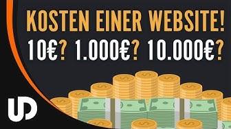 Was kostet eine Website? 10? 1.000€ oder 10.000€? [Tutorial]
