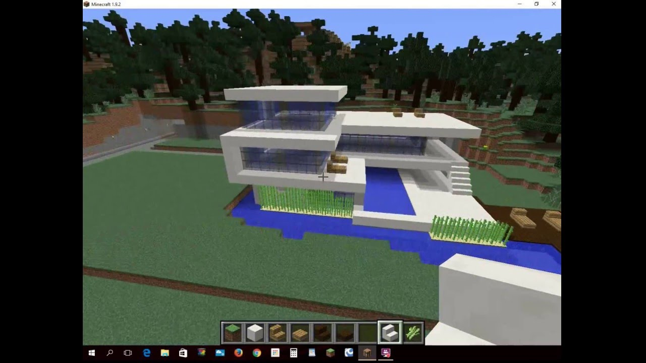Minecraft Modern Glass House Youtube