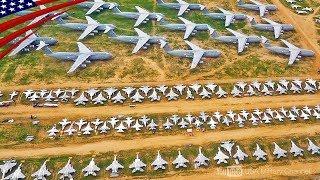 【軍用機の墓場】5,000機(F-14, A-10, F-15, B-52など)が整然と並ぶデビスモンサン空軍基地