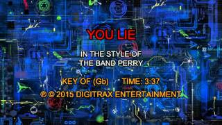 The Band Perry - You Lie (Backing Track)