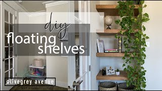 EASY FLOATING SHELVES | DIY at home