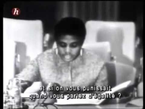Miriam Makeba, UN, 1964 South African Humanitarian Speech