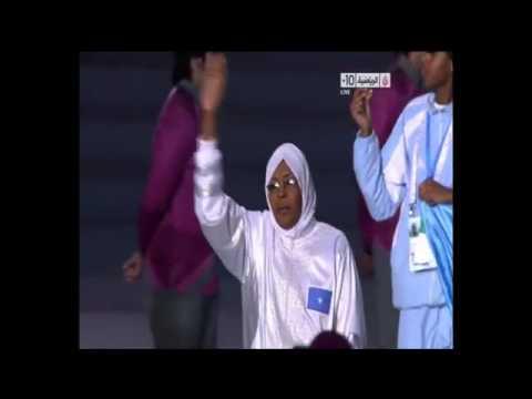 Xaflada Furitanka  2011 Pan Arab Games kooxda gabdhaha somaliya kubada koleyga