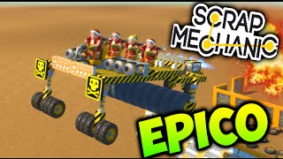 SUPER EPICO SCRAP MECHANIC !! CARRERA DE COCHES ASESINOS !! SCRAP MECHANIC Makiman
