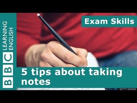 Exam skills: 5 tips about taking notes