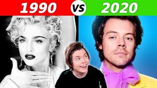 Popular Songs in 2020 vs 1990
