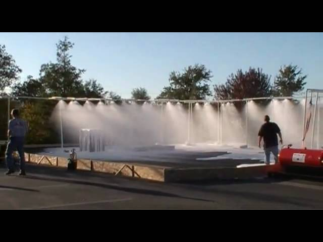 Tri-Max CAFS Testing Fire Sprinkler for Oil Platform