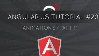 angularjs tutorial 20 animations part 1