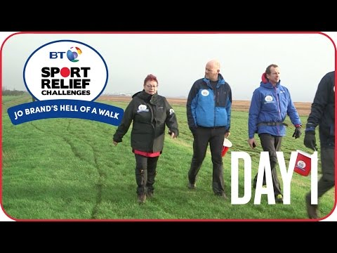 Jo Brand's Hell of a Walk  Day 1  Into the mud