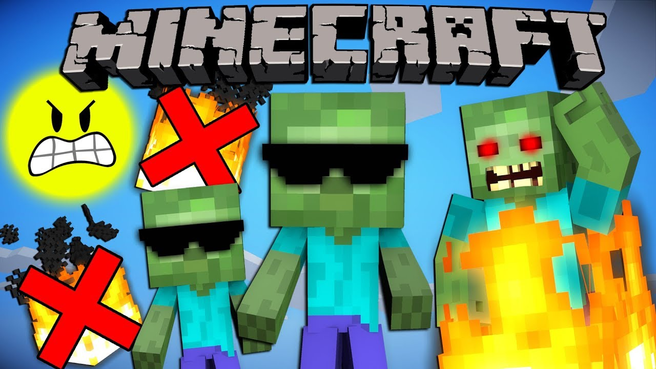 Why Baby Zombies Don T Burn In Daylight Minecraft Youtube
