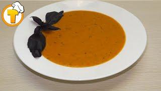 Томатный суп - пюре. Пошаговый рецепт. Блюда итальянской кухни.