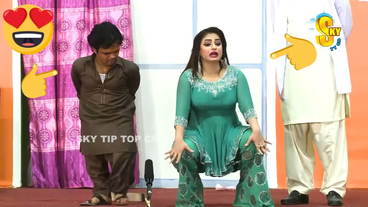 Vicky Kodu and Nida Choudhary with Akram Udas (New) | Stage Drama Baaghi Haseena | Comedy Clip 2020