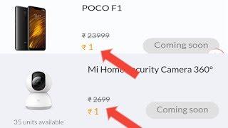 Mi Flash Sale Buy Poco F1 Only ₹1 | Best Trick To Buy...?