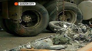 Katawan ng isang rider, nagkalasug-lasog mula sa aksidente sa QC