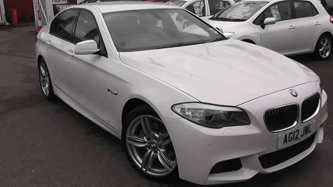 medium resolution of used car bmw 5 series 520 m sport white ag12jwl wessex garages feeder rd bristol youtube
