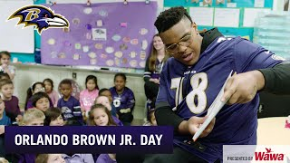 Orlando Brown Jr. Goes Back to His Elementary School | Baltimore Ravens