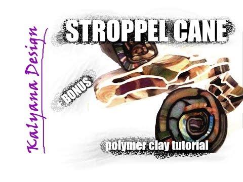 Polymer clay tutorial - Stroppel canes + bonus
