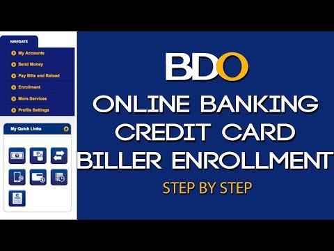 BDO Online Banking L Credit Card Biller Enrollment L Step By Step Tutorial