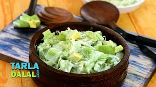 Green Salad With Honey And Curd Dressing (low Cholesterol & Healthy Heart Recipe) By Tarla Dalal