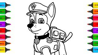 How to Draw Paw Patrol Chase | Coloring Pages Kit Toys for Children | Art Colors for Kids & Play-Doh