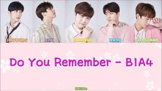 [THAISUB] B1A4 - Do You Remember [Color Coded Lyrics(Jap/Rom/Thai)]