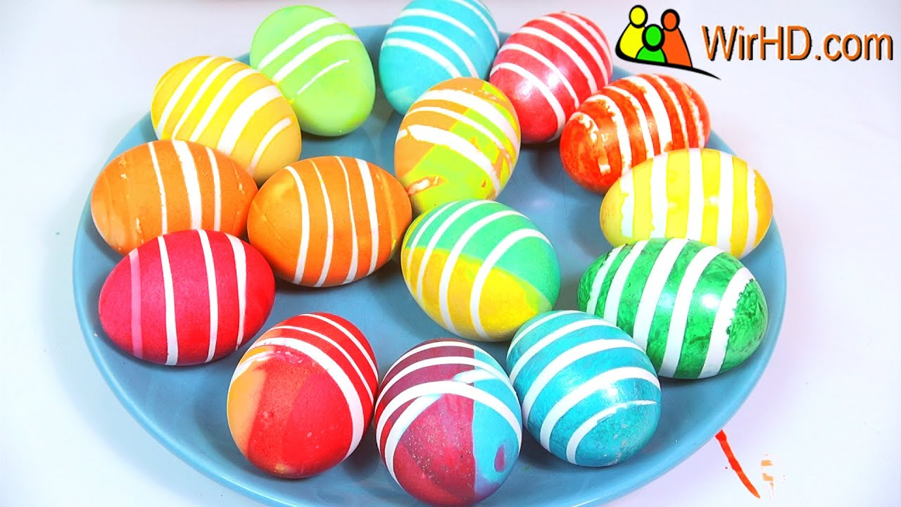 eier f rben gestreifte ostereier coloring easter eggs striped egg youtube. Black Bedroom Furniture Sets. Home Design Ideas