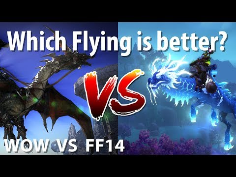 Which MMO brings better flying? [WOW VS FF14] - YouTube