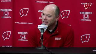 Tsipis Weekly Presser: Badgers Return Home to Face Indiana  - Buy American