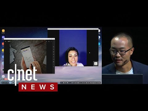 Samsung's Galaxy Note 8 makes video calls more seamless with DeX (CNET News)