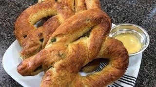 Jalapeño Soft Pretzels Recipe/Cooking & Eating Sounds-ASMR
