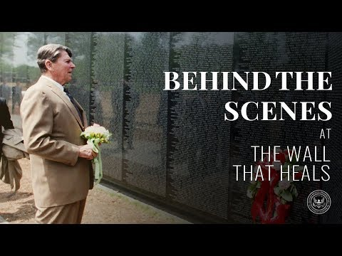 Behind-the-Scenes @ The Reagan Library:  The Wall That Heals – 11/19/15