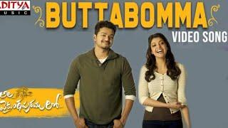 Butta Bomma Video Song Ft. of    Thalapathy Vijay  Kajal Agarwal  #AlaVaikunthapurramuloo